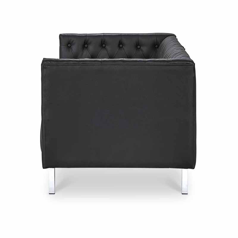 Buyonhome Ava Sofa Black Faux Leather