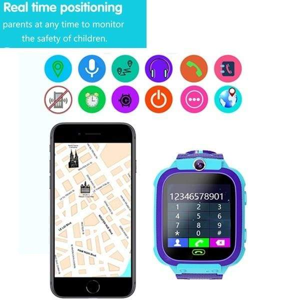 Q12 Anti Lost Smart Watch LBS Kid SmartWatches Baby Watch 1.44 Inch Waterproof Voice Chat LBS Finder Locator Tracker