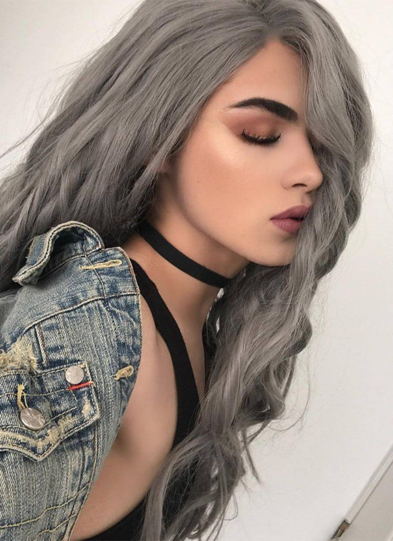 Lace Frontal Wigs For Women Gray Wigs Wet And Wavy Micro Braiding Hair Light Ash Grey Hair