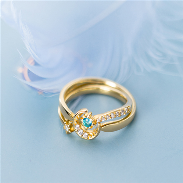 (Last Day Promotion 60% OFF) Moon and Star Ring Sets