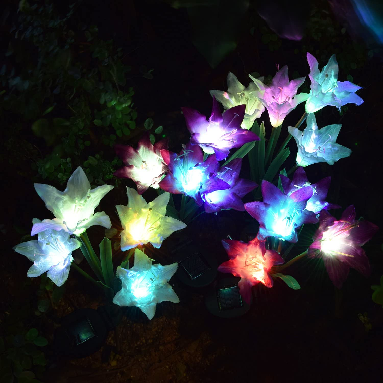 Solar Powered Lily Flower Lights