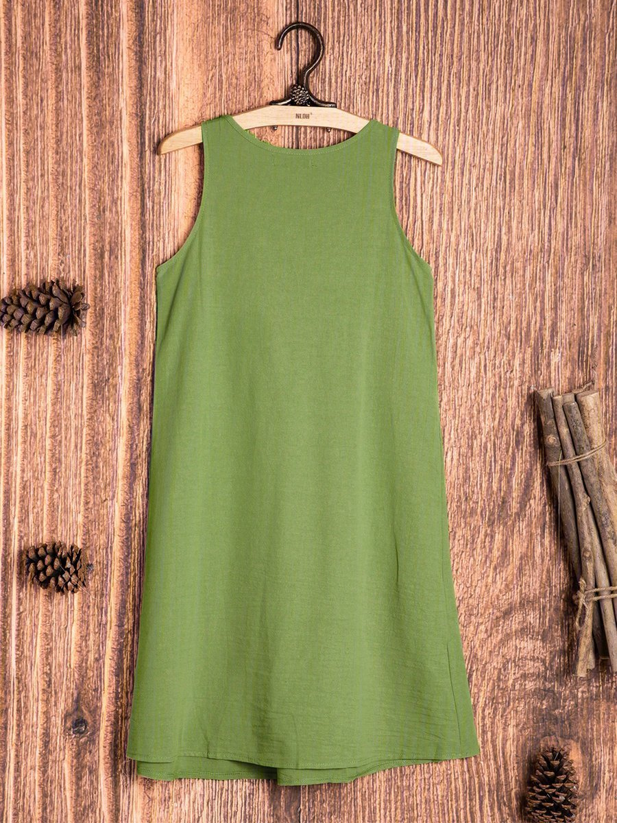 Sleeveless Solid Casual Casual Dresses