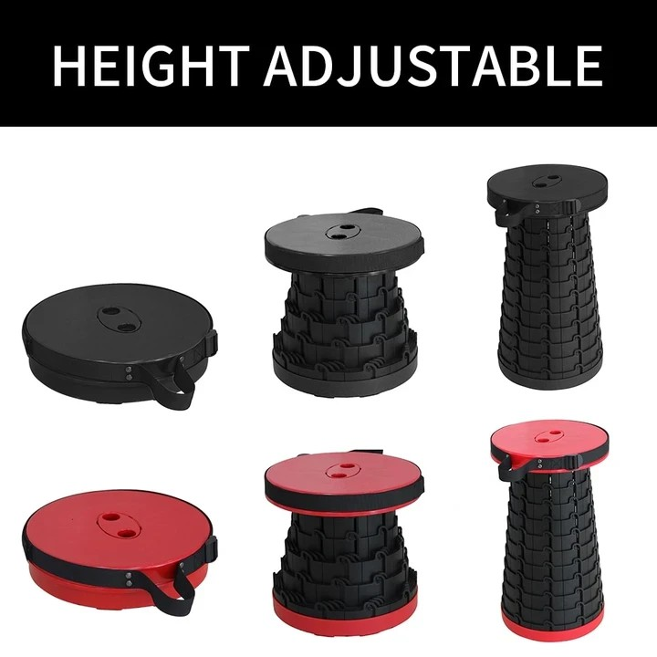 Portable Folding Stool Telescoping Camping Stool Seat