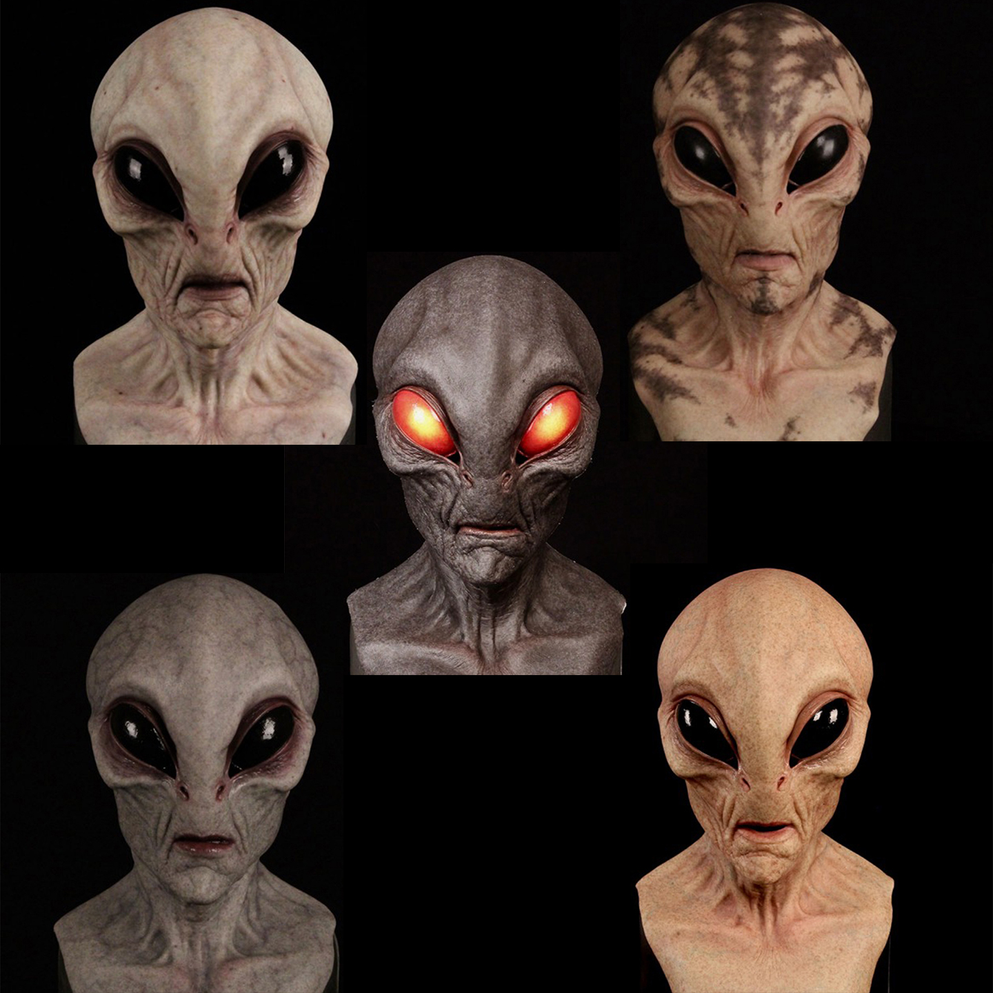🔥Alien Mask👽 - Made In America & Suitable For Most Head Circumference