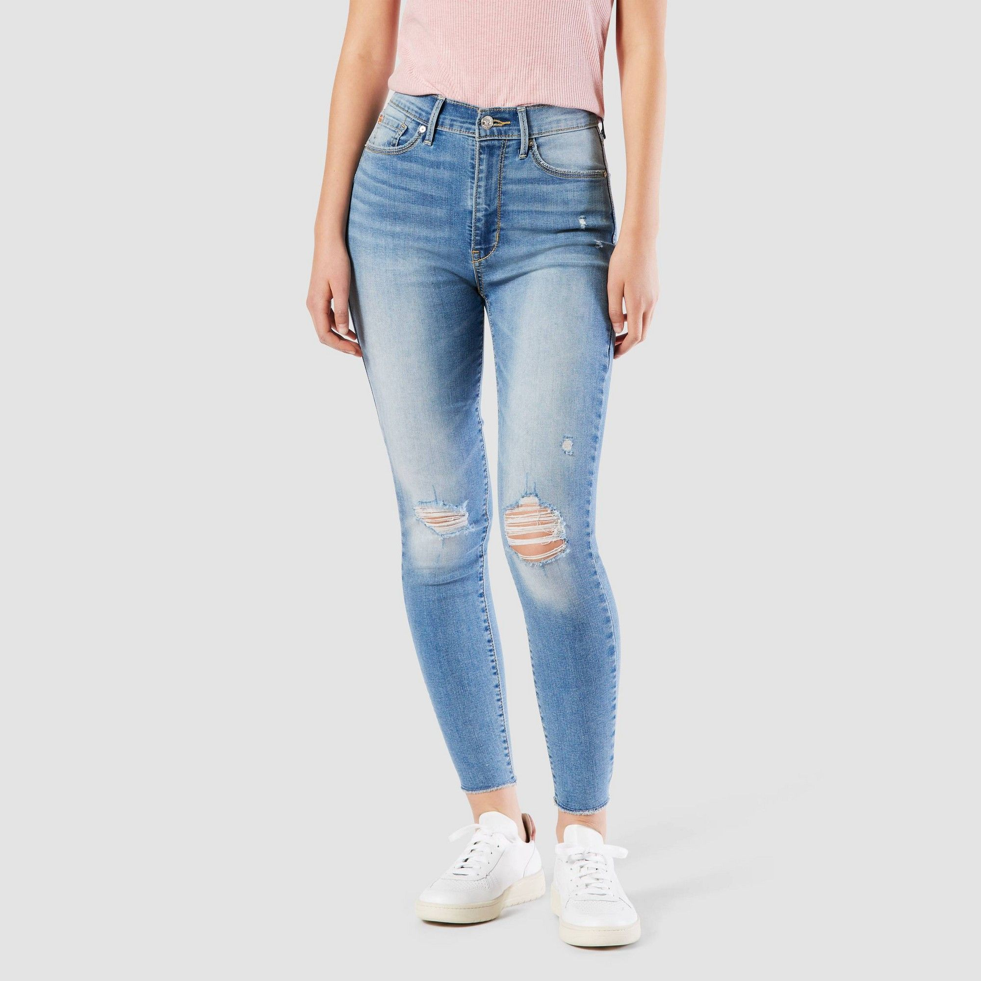 2020 New Women Jeans Petite Cargo Trousers White Tapered Trousers Bike Shorts Outfit Chic Clothing