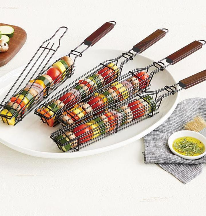 Kabob Grilling Baskets - BBQ Tools