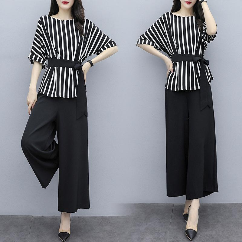 Striped two-piece suit