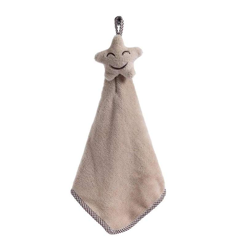 Kitchen towel smiling face hanging coral velvet absorbent cloth dishcloth lint free