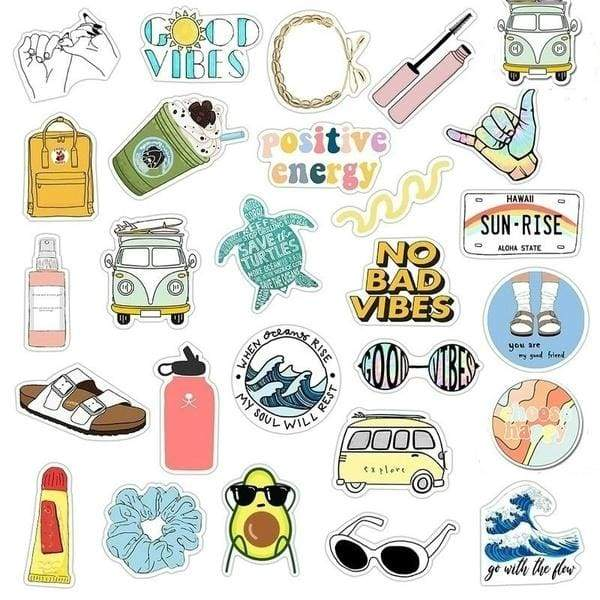 15/35/70 pcs new stickers small fresh personality stickers suitcase water cup graffiti stickers