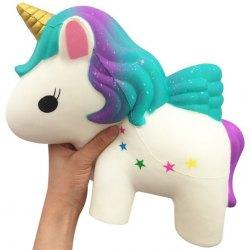 PU Slow Rebound Unicorn Decoration Decompression Toy - White
