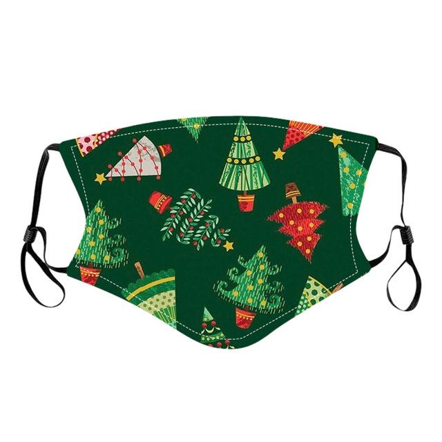 Christmas Facial Covering, Adjustable Mouth Covering(4 PCS/SET)