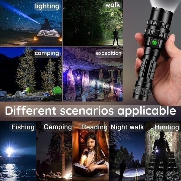 New Super Bright Led Flashlight USB Rechargeable Waterproof LED Torch