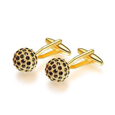 Cufflinks Formal Fashion Brooch Jewelry Silver Golden For Gift Daily