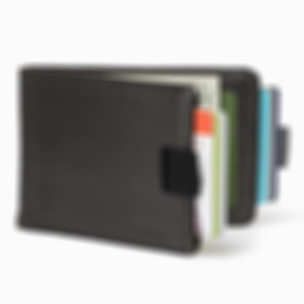Extra-large capacity thin leather pull-wallet