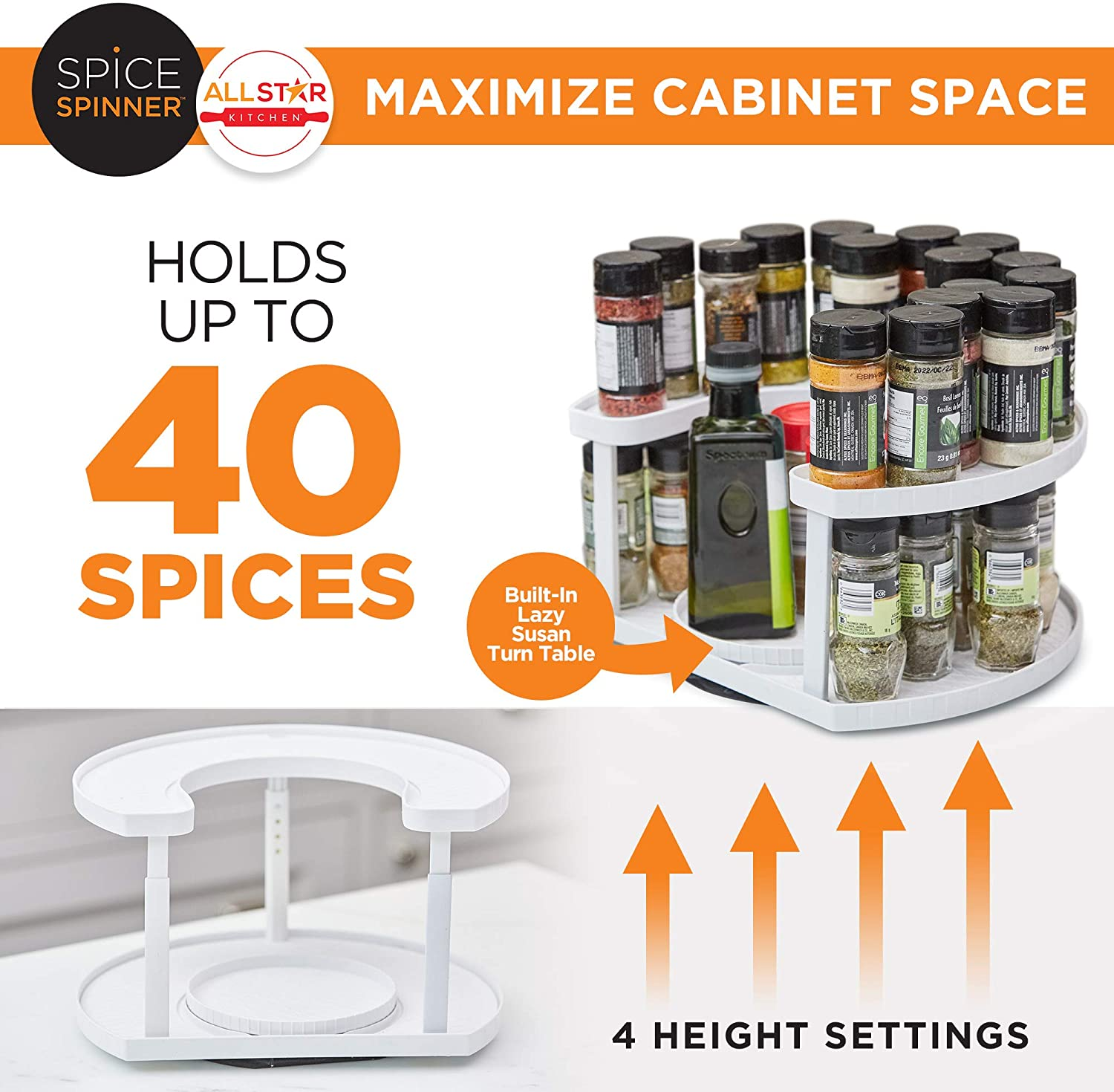 Spice Spinner Two-Tiered Spice Organizer