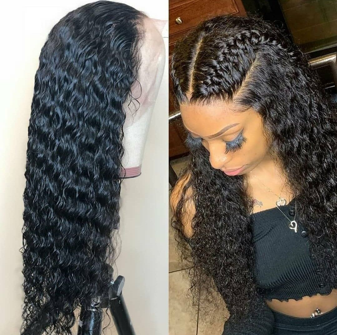 Human Wigs African American Hair Lace Front Lace Wigs For Black Ladies Double Dutch Braid Wig Copper Hair Piece Frontal Sew In Prices Iris Remy Hair