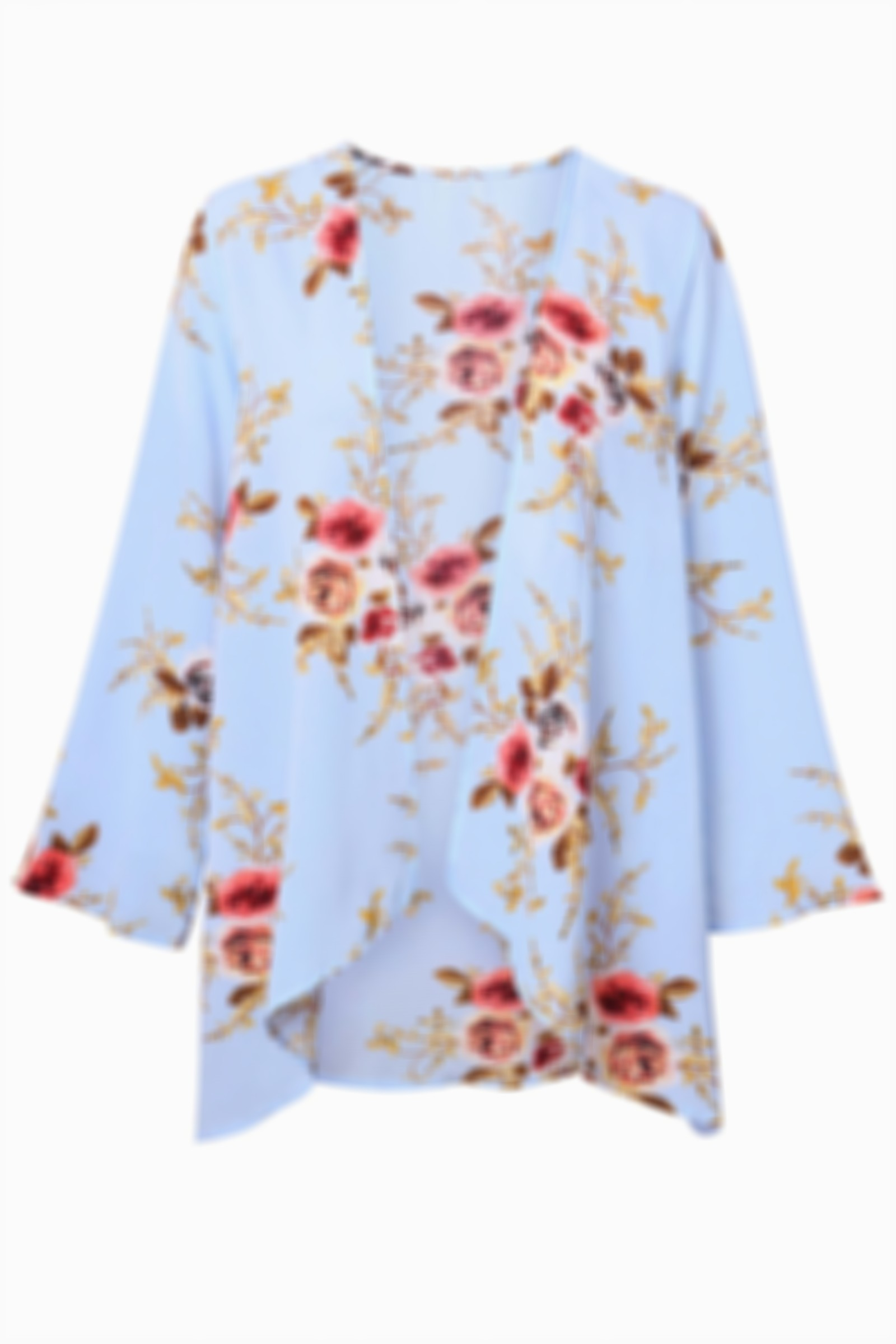 Rose Flower Printed Cardigan Outerwear