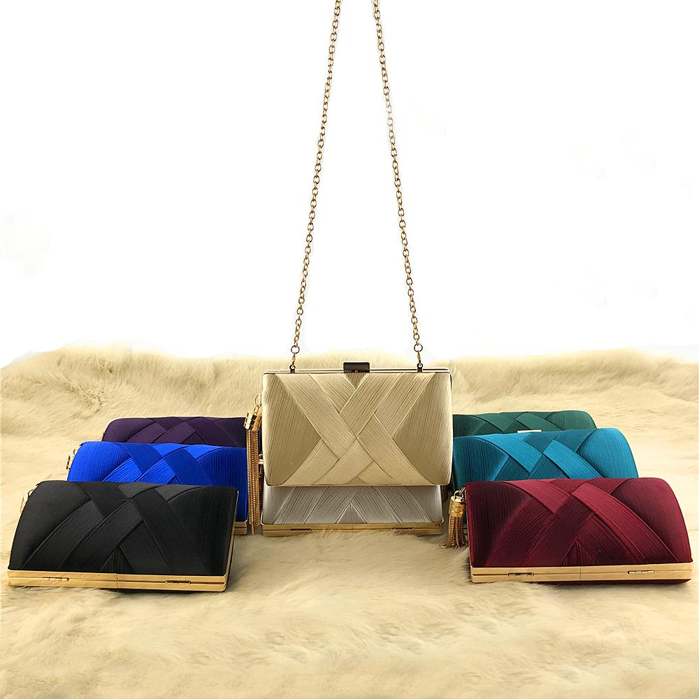 classical evening tassels satin clutches for girls Clutch-1.2