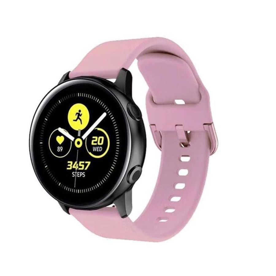 Silicone Watch Band Strap Soft Wristbands Sports Bracelet Replacement Strap Silicone Watch Band 20mm for Samsung Galaxy Watch Active 2