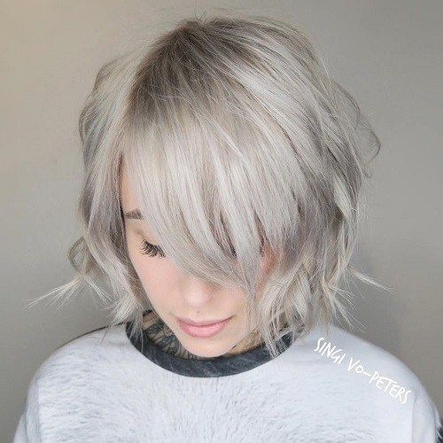 2020 New Gray Hair Wigs For African American Women Best Wigs Witch Wig 30 Inch Lace Front Wig Purple Bob Curly Wigs
