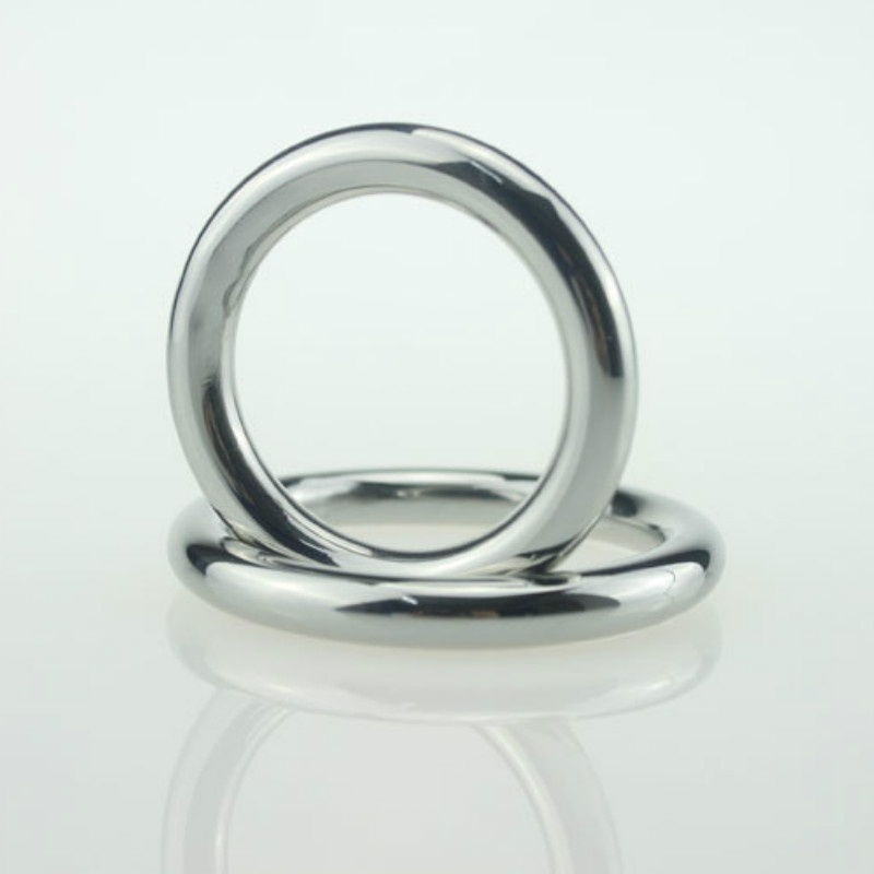 1PC Aluminium Alloy Delay Ring Metallic Colour Ring Taste The Lock Steel Cockring for Erection and Delay Ejaculant 40MM 45MM 50MM