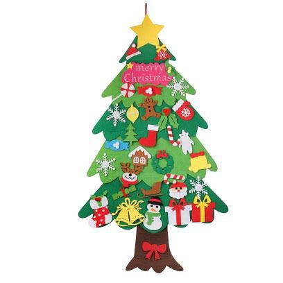 (Halloween and early Christmas promotion) Children's toy gifts---felt Christmas tree and ornament set
