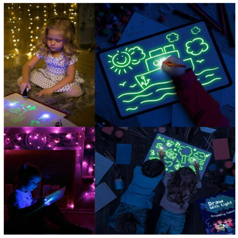 (50% OFF)🌟Draw With Light Fun🌟 Fluorescent painting board