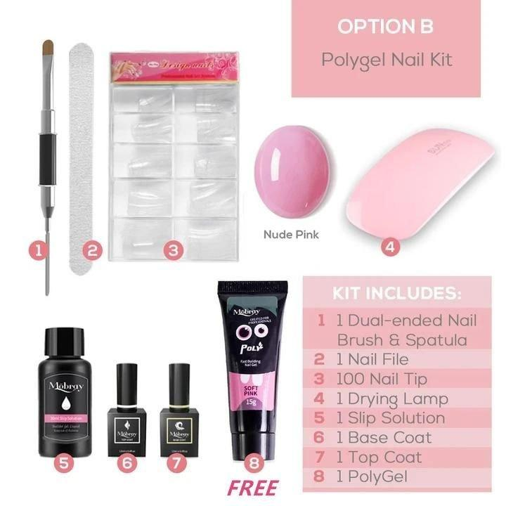 ✨NEW YEAR SALE 50%OFF-TODAY✨PolyGel Nail Kit