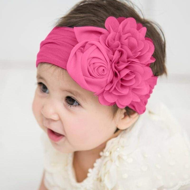 13 Solid Colors Baby Girls Cute Hair Band Elastic Hair Band with Flower Infant Toddler Children Headwear Photography Hair Accessories