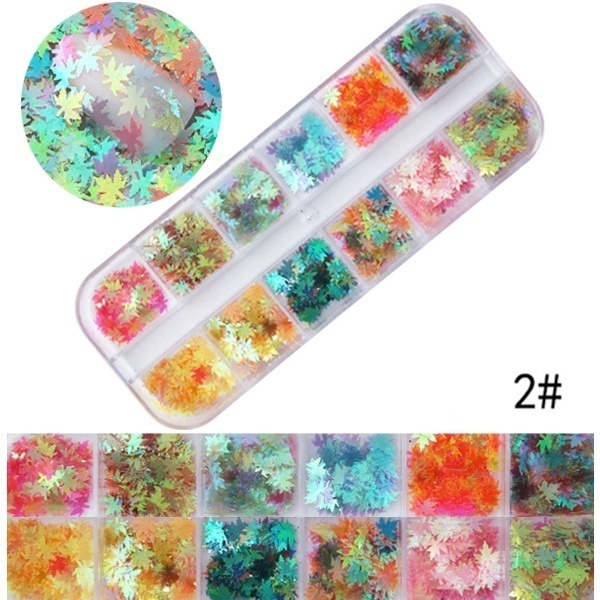 1set Holographic Glitter Flakies Nail Paillette for Nail Art Decoration Holo Nail Glitter Mixes Heart Round Star Nail Sequins