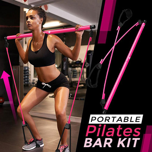 Multifunction Portable Portable Pilates Bar Kit with Resistance Band