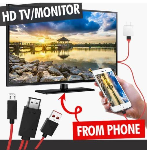 Mobile adaptor 1080P 3-in-1 Lightning HDMI To TV