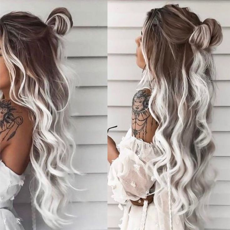Gray Hair Wigs For African American Women Young Men With Grey Hair Grey Wig With Dark Roots Grey Hair Products Kim Kardashian Gray Hair Yuno Gasai Wig
