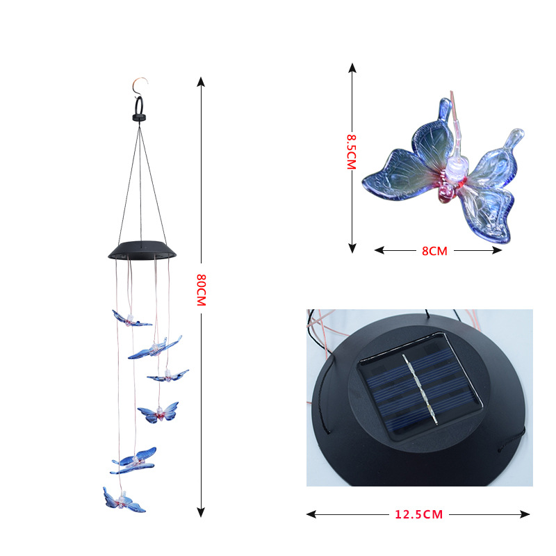 【Limited Quantity 40% OFF】🥳Solar LED Hummingbird Wind Chime Light