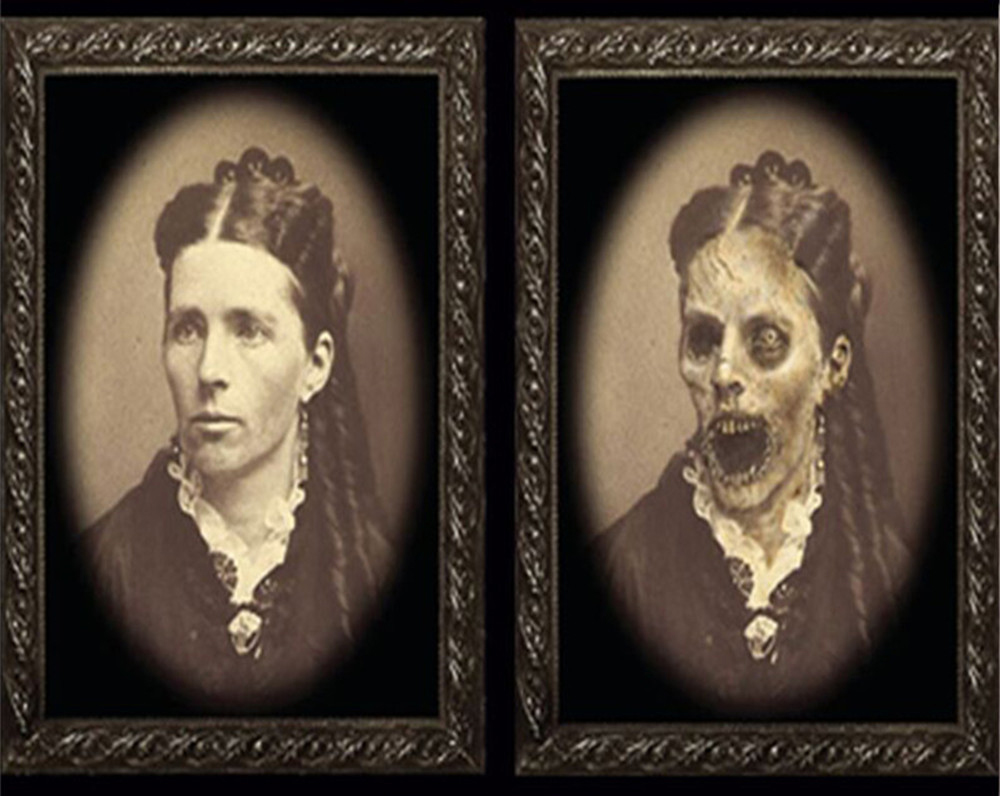 Halloween Artwork - Scary Photos with Changing Faces>buy two for free shipping