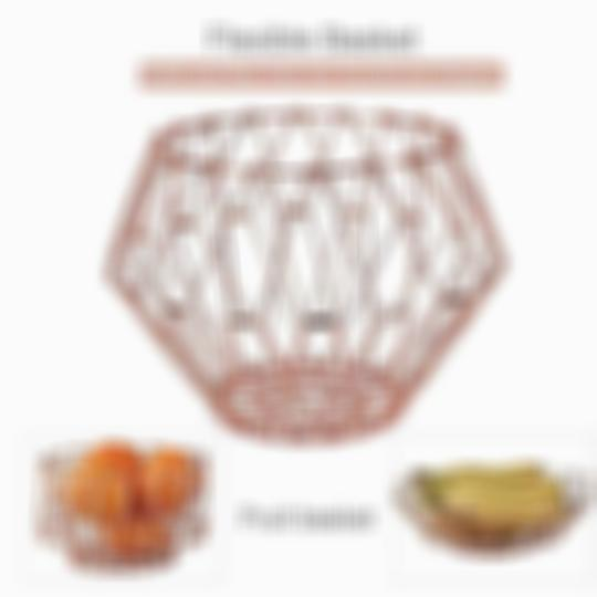 SKRTEN Folding Flexible Stainless Steel Wire Fruit Basket