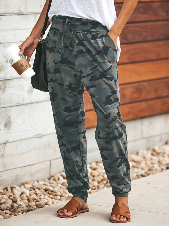 Camouflage Loose Casual Pants