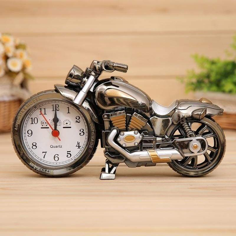 Motorcycle Model Alarm Clock (silvery and Golden)