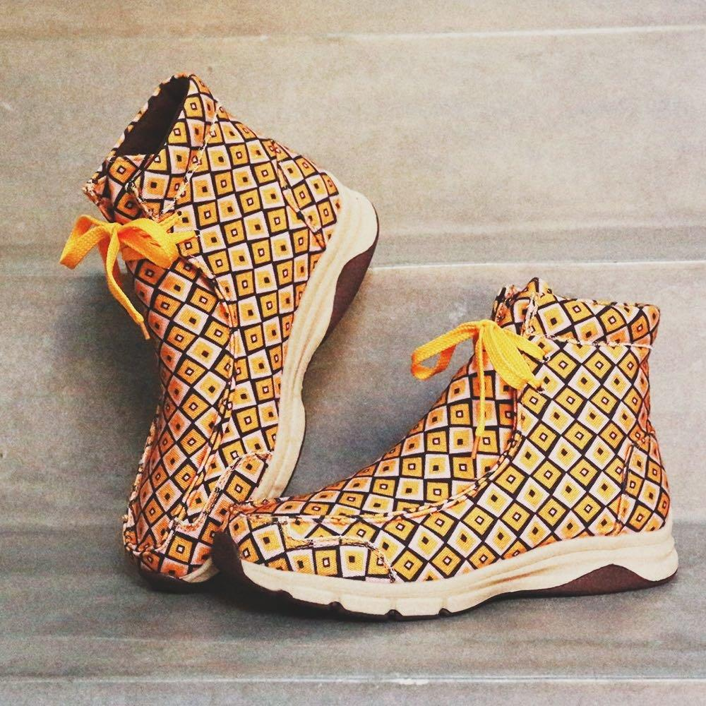 Women Winter Comfortable Splicing Lace Up Flat Short Boots
