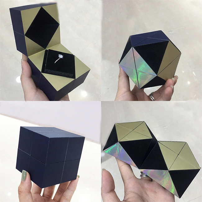 【Buy 1 Get 1 Free】Creative S925 Silver Ring And Rubik's Jewelry Box