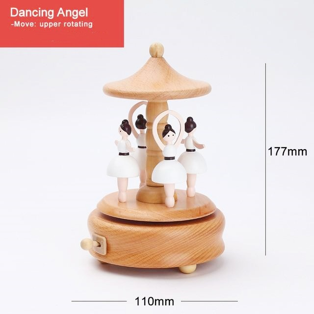 (CHRISTMAS PRE SALE - SAVE 50% OFF) Handmade Wooden Rotating Music Boxes - Buy 2 FREE shipping