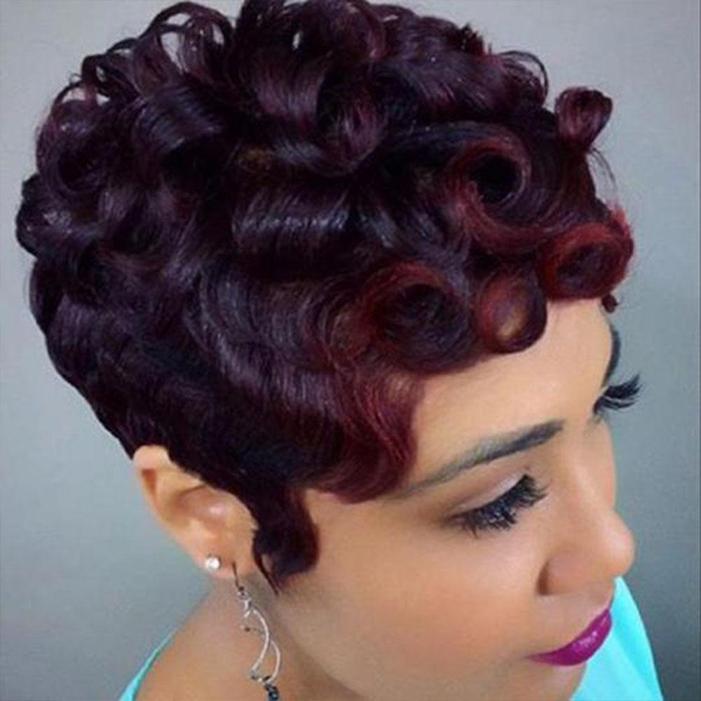 Luna 027 Sassy Short Curly Layered Hair Wig for Black Women