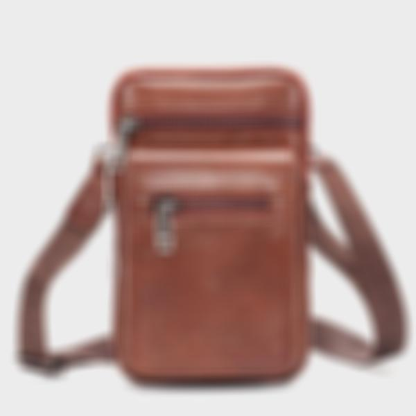 Men's Solid Belt Bag Phone Purse Crossbody Bag