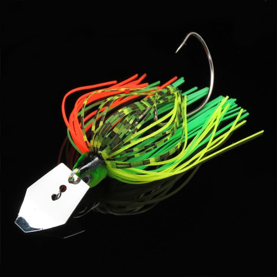 1Pcs Buzz Bait Lead Head 10G Fishing Bait Metal Spoons Spinner Bait With Crank