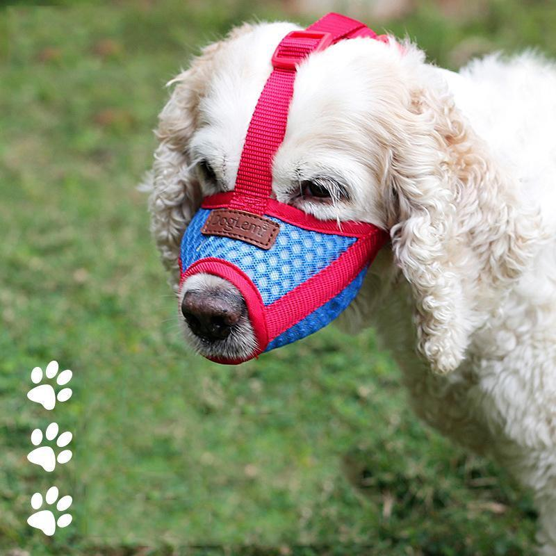 Pet Mouth Cover Air Mesh Muzzle for Anti-biting Mask