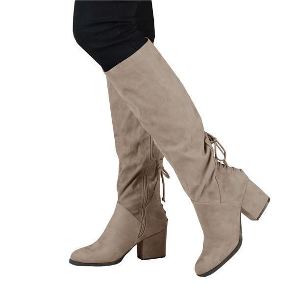 Faddishshoes Winter Suede Low Heel Daily Boots