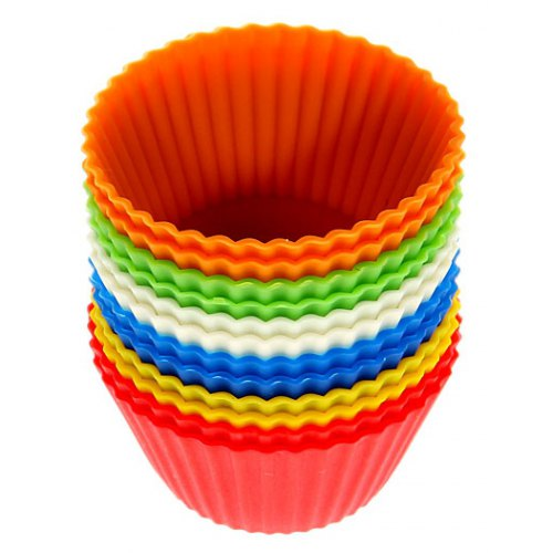 SKRTEN 12PCS Colorful Silicone Muffins Cup Cake Model