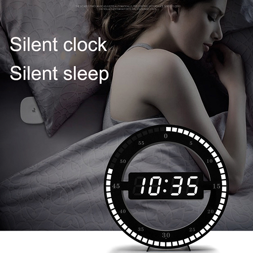 Easy to read LED ring clock