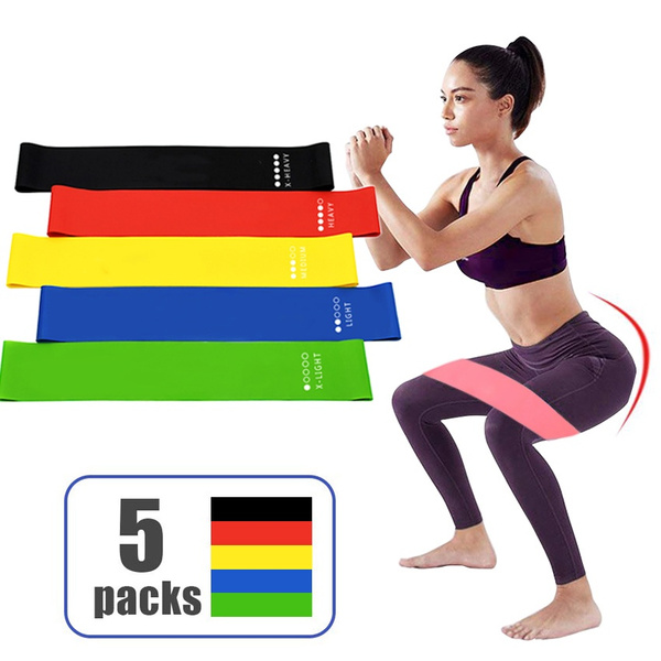 Elastic Resistance Band Exercise Bands Leg Training Rubber Loop Expander Fitness Equipment For Yoga Fitness Workout Gym
