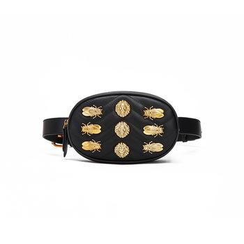 Trend Custom Stitching Pu Fashion Multi-Functional Chest Bag Women Fanny Pack Leather Waist Bag Belt Bags-1.9